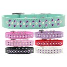 Sprinkles Dog Collar Pearl and Purple Crystals | PrestigeProductsEast.com