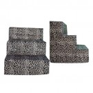 Leopard Velour Plush Pet Steps | PrestigeProductsEast.com