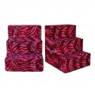 Red Zebra Plush Pet Steps | PrestigeProductsEast.com