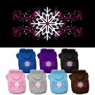 Pink Snowflake Swirls Screen Print Pet Hoodie | PrestigeProductsEast.com