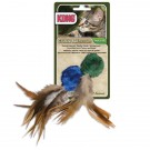 Kong® Catnip Toy - Crinkle Ball with Feathers | PrestigeProductsEast.com