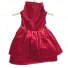 Red Stretch Velvet Holiday Dress   PrestigeProductsEast.com