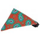 Red Pretty Paisley Bandana Pet Collar | PrestigeProductsEast.com