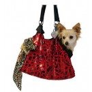RunAround Pet Carrier Tote w/ Animal Foil - Red