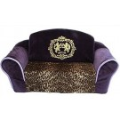 Royal Purple with Leopard Interior Pull Out Pet Sleeper Sofa Bed | PrestigeProductsEast.com