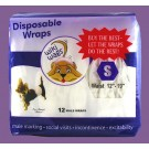 Male Dog Disposable Wraps Small 12 Pack