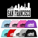 San Francisco Skyline Screen Print Pet Shirt | PrestigeProductsEast.com