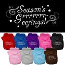 Seasons Greetings Screen Print Pet Hoodie | PrestigeProductsEast.com