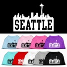 Seattle Skyline Screen Print Pet Shirt | PrestigeProductsEast.com