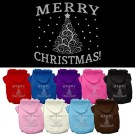 Shimmer Christmas Tree Screen Print Pet Hoodies | PrestigeProductsEast.com
