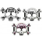 "Skull Sliding Charms - 3/4"" (18mm) 