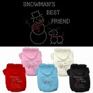 Snowman's Best Friend Rhinestone Hoodie | PrestigeProductsEast.com
