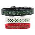 Sprinkles Dog Collar Emerald Green Crystals | PrestigeProductsEast.com
