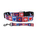 Stars and Hearts Nylon Ribbon Collars | PrestigeProductsEast.com