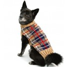Tan Tartan Plaid Dog Sweater | PrestigeProductsEast.com