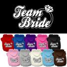 Team Bride Screen Print Pet Hoodie   PrestigeProductsEast.com