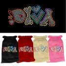 Technicolor Diva Rhinestone Knit Pet Sweater | PrestigeProductsEast.com