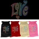 Technicolor Love Rhinestone Knit Pet Sweater | PrestigeProductsEast.com
