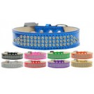 Three Row AB Crystal Ice Cream Dog Collar | PrestigeProductsEast.com