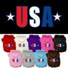 USA Star Screen Print Pet Hoodies | PrestigeProductsEast.com