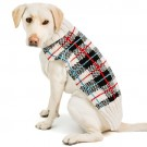 White Tartan Plaid Dog Sweater | PrestigeProductsEast.com