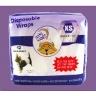 Male Dog Disposable Wraps X Small 12 Pack