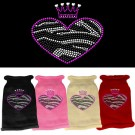 Zebra Heart Rhinestone Knit Pet Sweater | PrestigeProductsEast.com